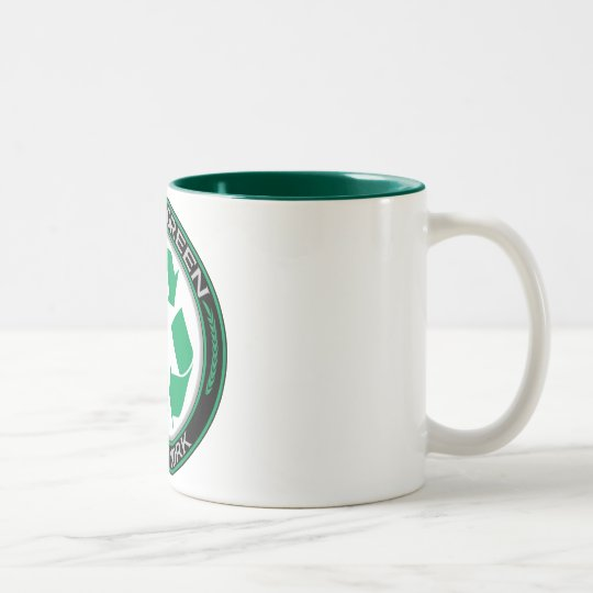 Going Green Recycle New York Two-Tone Coffee Mug