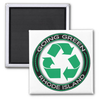 Going Green Recycle Rhode Island Magnet