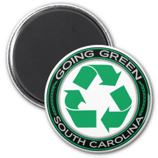 Going Green Recycle South Carolina Magnet