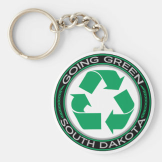 Going Green Recycle South Dakota Keychain