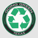 Going Green Recycle Texas Stickers