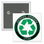 Going Green Recycle Utah Buttons