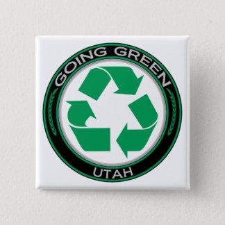 Going Green Recycle Utah Pinback Button
