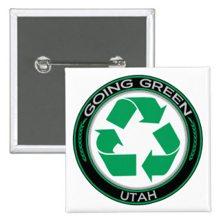 Going Green Recycle Utah Pinback Button