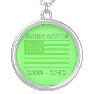 Going Green Round Pendant Necklace