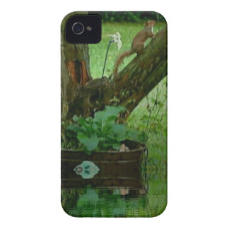 Going Green Squirrel on Tree Water Reflection iPhone 4 Case