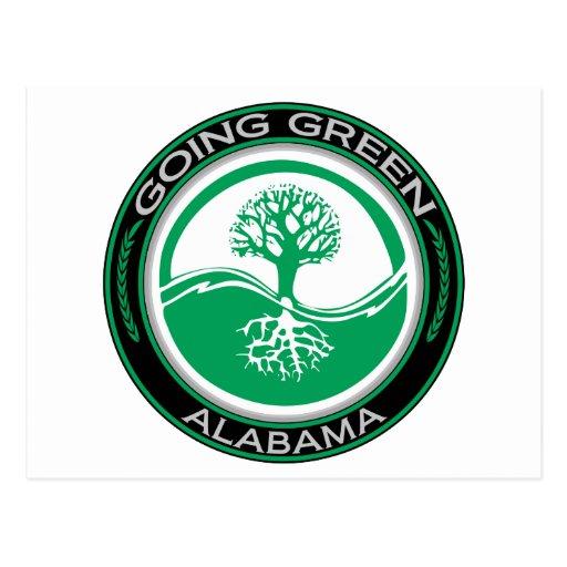 Going Green Tree Alabama Postcard