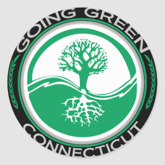 Going Green Tree Connecticut Classic Round Sticker