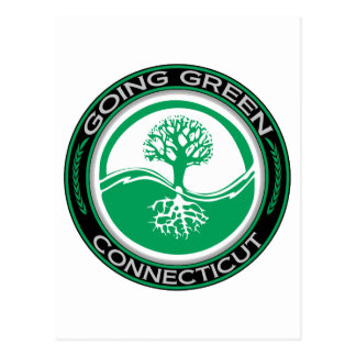 Going Green Tree Connecticut Postcard