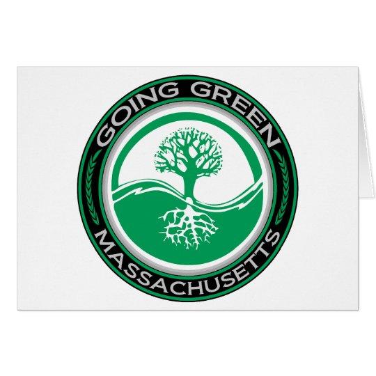 Going Green Tree Massachusetts Card