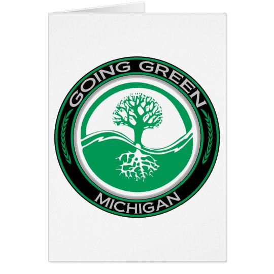 Going Green Tree Michigan Card