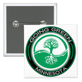 Going Green Tree Minnesota Pinback Button