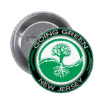 Going Green Tree New Jersey Pinback Buttons
