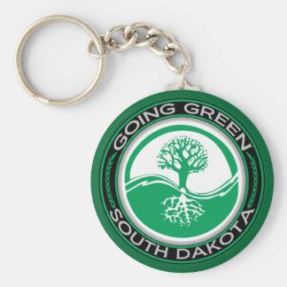 Going Green Tree South Dakota Keychain