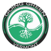 Going Green Tree Vermont Classic Round Sticker