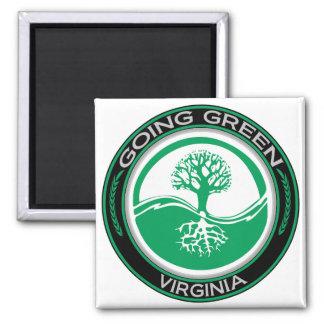 Going Green Tree Virginia Fridge Magnets