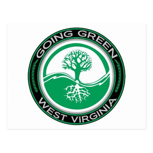 Going Green Tree West Virginia Postcard