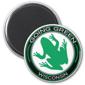Going Green Wisconsin Frog Magnet