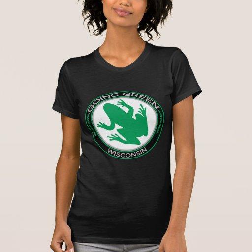 Going Green Wisconsin Frog Tshirt