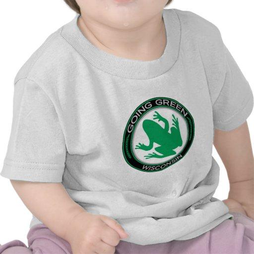 Going Green Wisconsin Frog Shirts