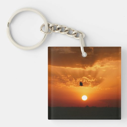 Going Home Alone Double-Sided Square Acrylic Keychain