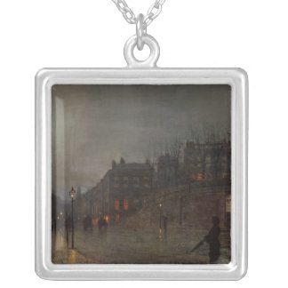 Going Home at Dusk, 1882 Silver Plated Necklace