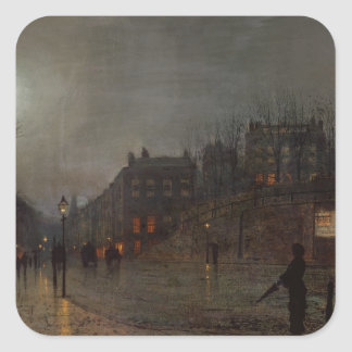Going Home at Dusk, 1882 Square Sticker