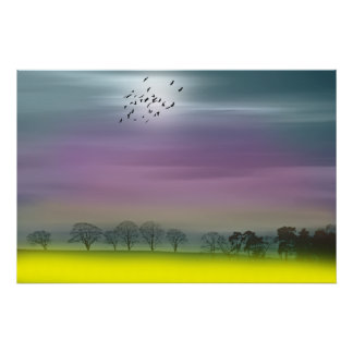 Going Home Fantasy Scottish Landscape Painting Poster