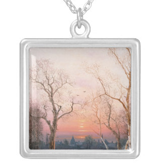 Going Home Silver Plated Necklace