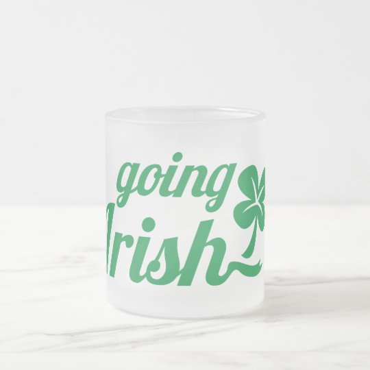 GOING IRISH St Patricks day design Frosted Glass Coffee Mug
