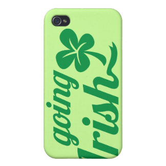 GOING IRISH St Patricks day design iPhone 4/4S Cases