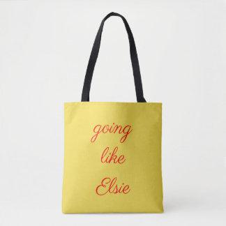 Going like Elsie logo tote
