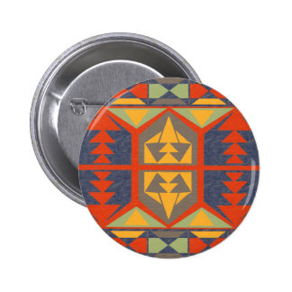 Going Native Tribal Native American Button