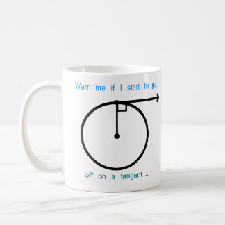 Going of on a Tangent Classic White Coffee Mug