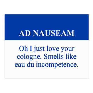 Going on Ad Nauseam (2) Postcard