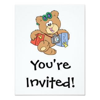 going on vacation tourist teddy bear card
