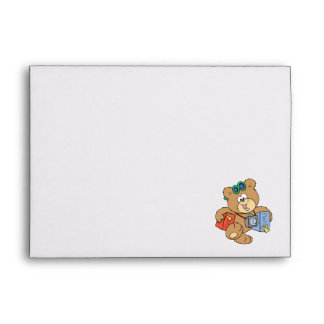 going on vacation tourist teddy bear envelope