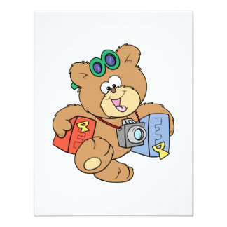 going on vacation tourist teddy bear invite