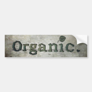 going organic for health car bumper sticker