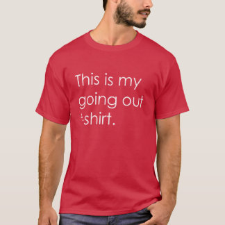 Going Out T-Shirt Maroon and White