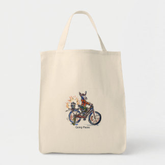 Going Places Grocery Tote Bag