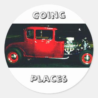 """Going Places"" - CricketDiane Designer Stuff Classic Round Sticker"