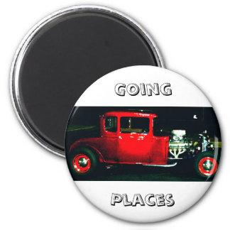 """Going Places"" - CricketDiane Designer Stuff 2 Inch Round Magnet"
