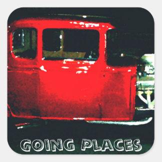 """Going Places"" - CricketDiane Designer Stuff Square Sticker"