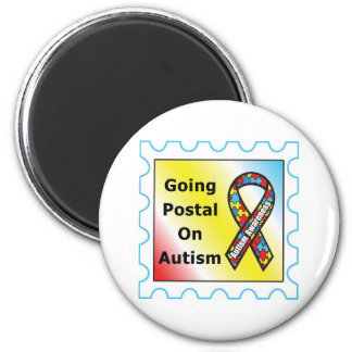 Going Postal on Autism, the sequel 2 Inch Round Magnet