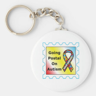 Going Postal on Autism, the sequel Basic Round Button Keychain