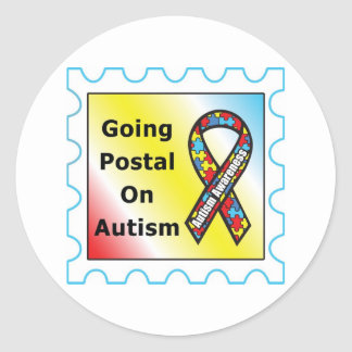 Going Postal on Autism, the sequel Classic Round Sticker