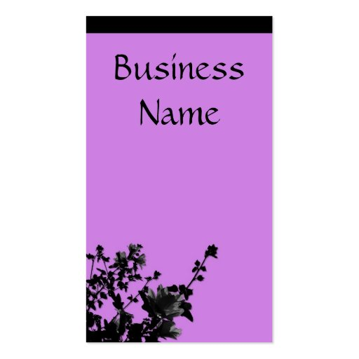 Going purple business card zazzle for Purple business cards