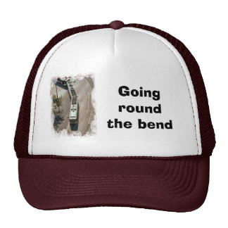 Going round the bend trucker hat