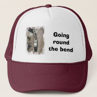Going round the bend trucker hat